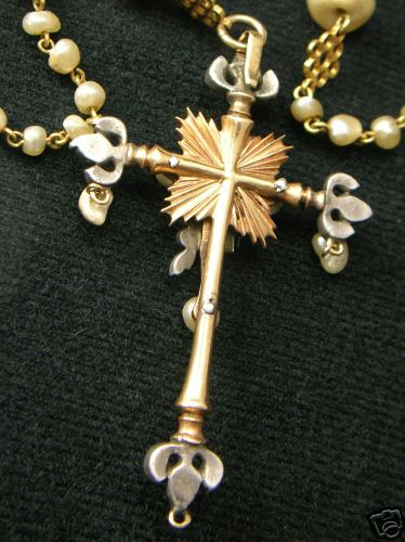 ROSARY CRUCIFIX: Reverse side