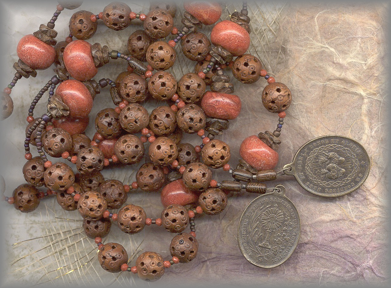 CHAPLET: full view of chaplets including medals