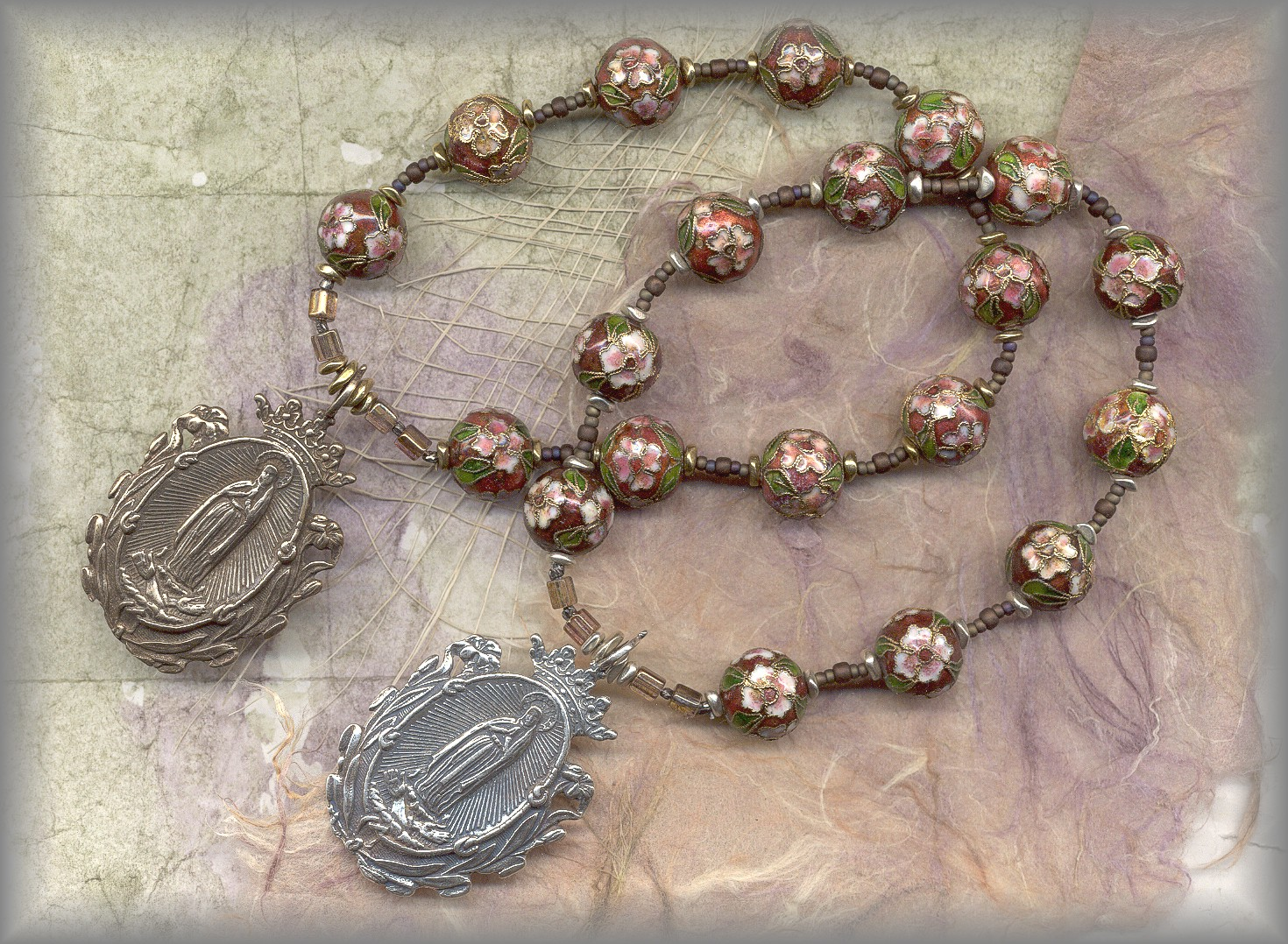 CHAPLETS: full view of Miraculous Medal chaplets