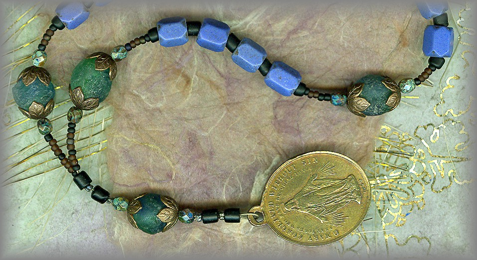 PERE MARQUETTE CHAPLET - Russian fur trade beads