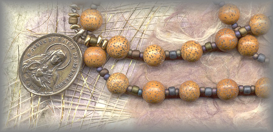 MOON AND STAR WOOD BEADS