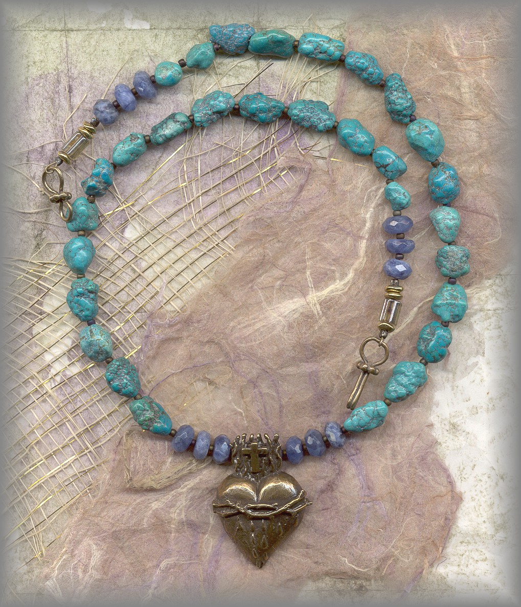 RELIGIOUS JEWELRY: JSH.18.2410 (turquoise / faceted sodalite)