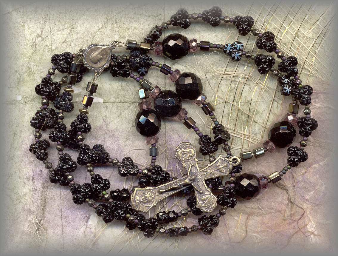 ROSARY BEADS (metals cast from antique pieces)