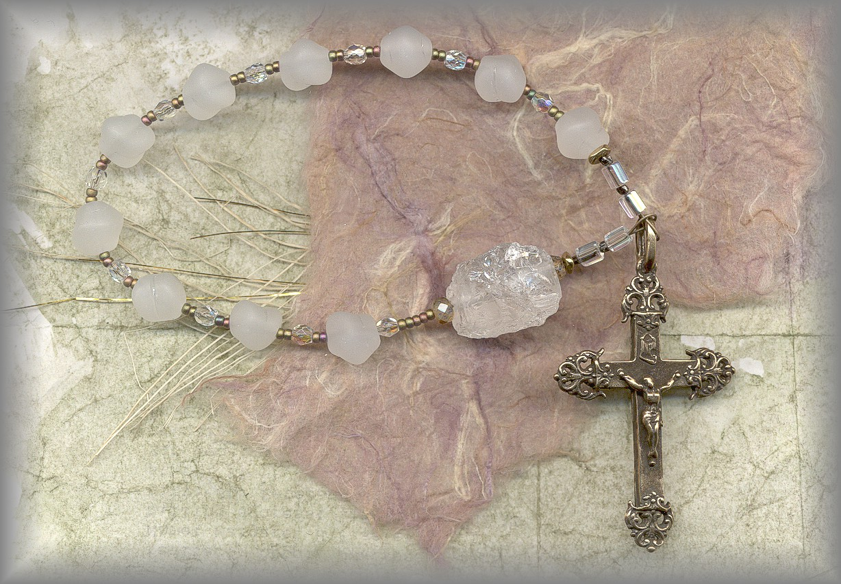 CHAPLET: (Rock Crystal and antique beads)