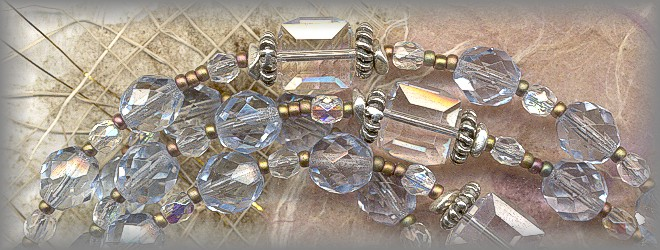 ROSARIES: Antique faceted crystal Ave Beads