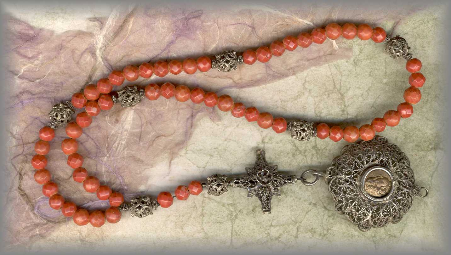 ANTIQUE FILIGREE ROSARY: inspiration for series below