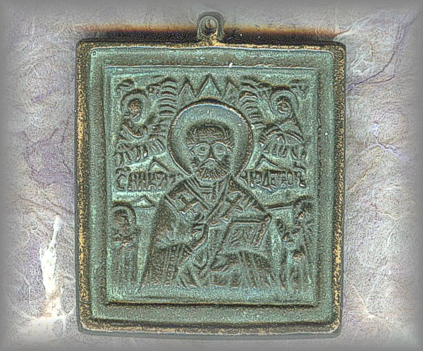 METAL ICON: St Nicholas the 'Wonder Worker'