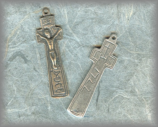 ANTIQUE PENAL CRUCIFIX: dated 1722 (Loch Derg Ireland)