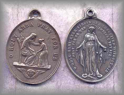MEDAL: Ste Anne / Mary (19c)