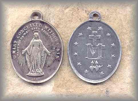 MIRACULOUS MEDAL: France (1850s)