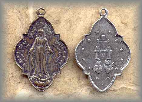 MIRACULOUS MEDAL: Ornate (early 20c)