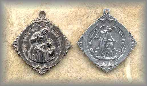 MEDAL: St Anne / Guardian Angel (early 20c)