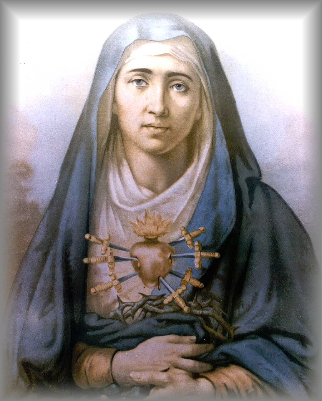 OUR LADY of the SEVEN SORROWS (artist unknown)