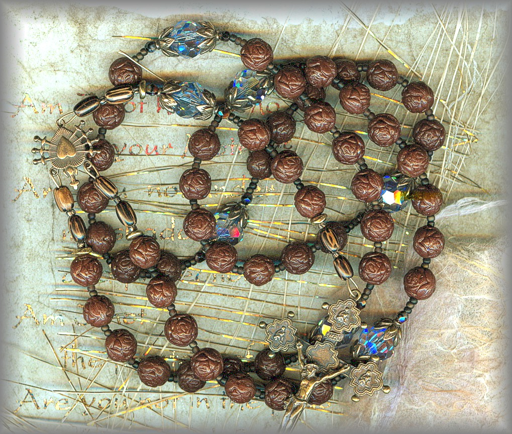 SEVEN SORROWS OF MARY ROSARY - black
