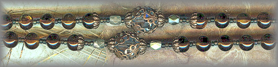 ROSARY: RDSB.2900 (Mighty Hand of God) Antique 'Oil' beads
