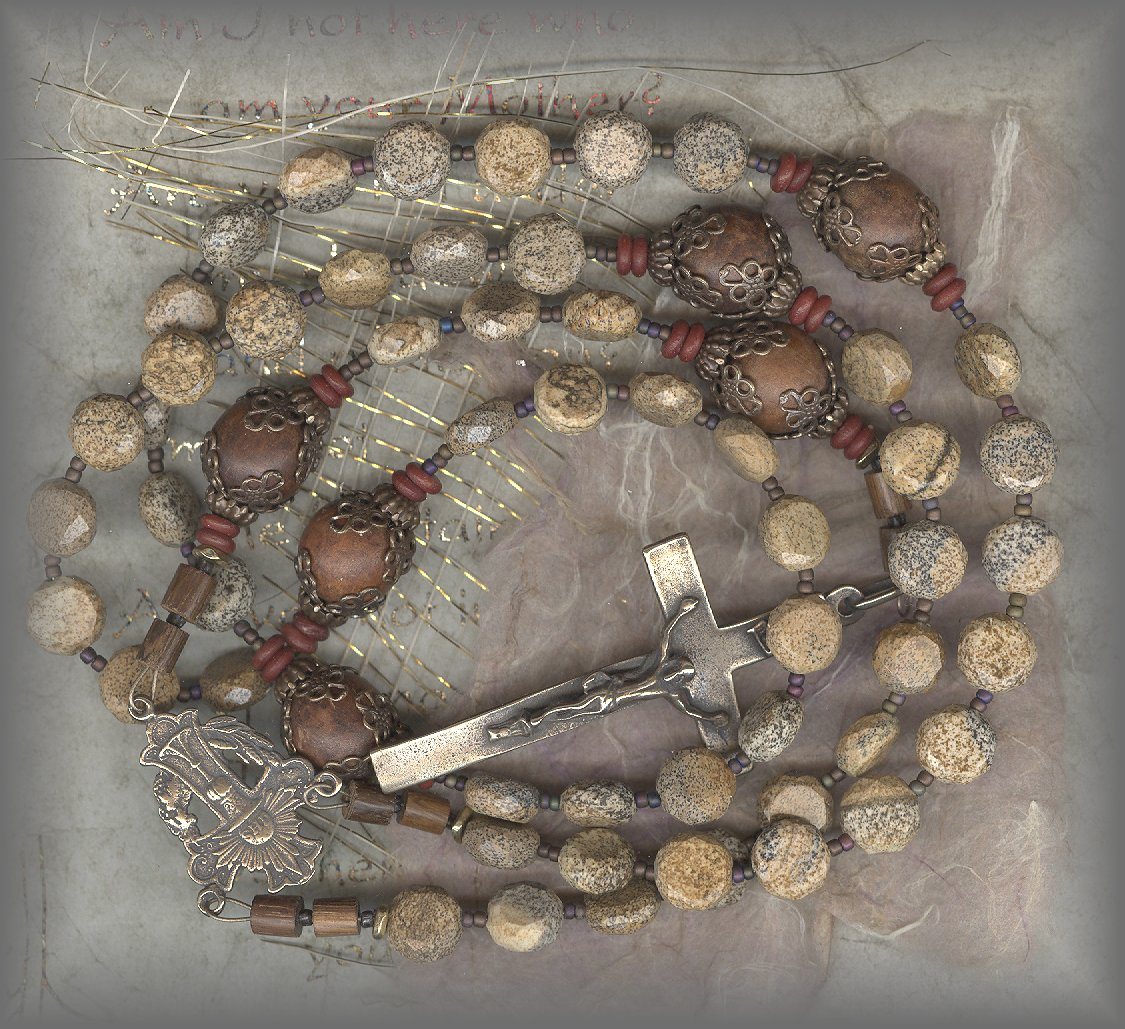 ROSARY BEADS (antique with jet)