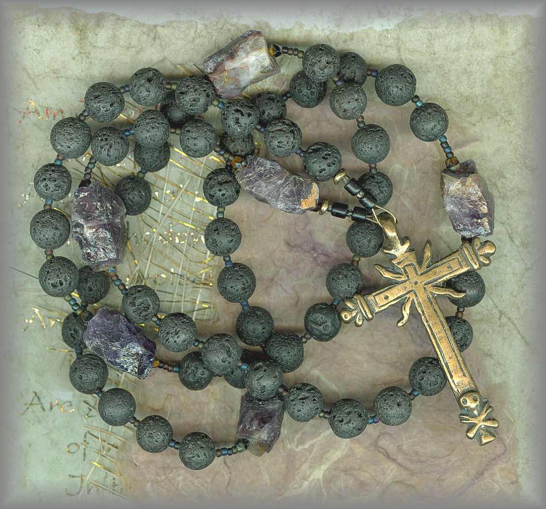 ROSARY: Antique Beads in matte black