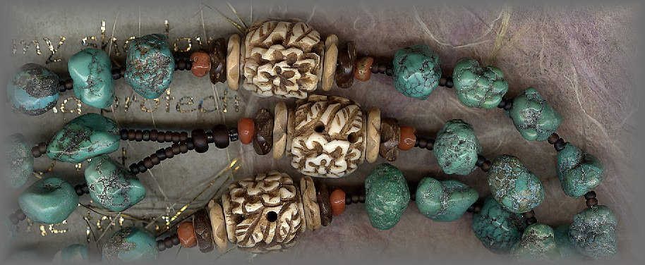 TURQUOISE: Natural pebbles (Hand shaped)
