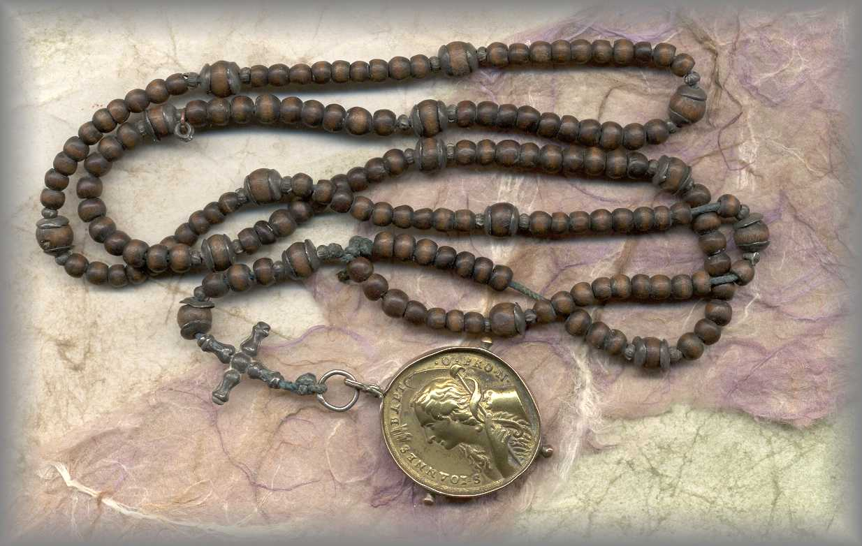 ANTIQUE ROSARY: 1720